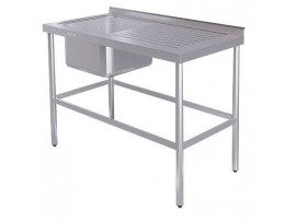 Ванна моечная ВСМЦ-1/1200 с правым столом (цельнотянутая)